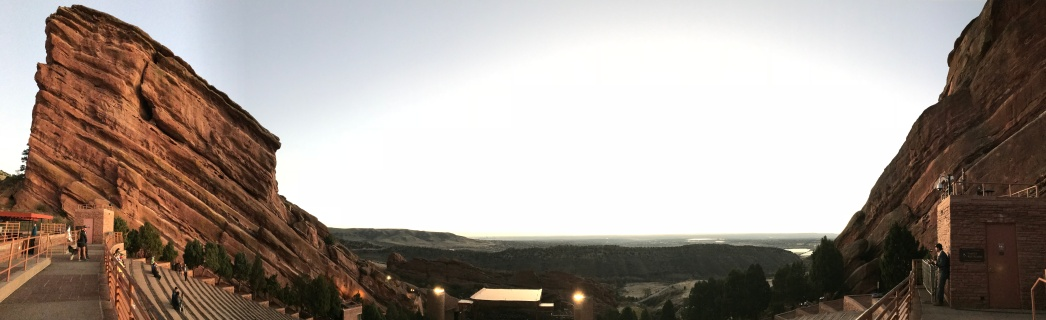 Red Rocks sunrise panorama
