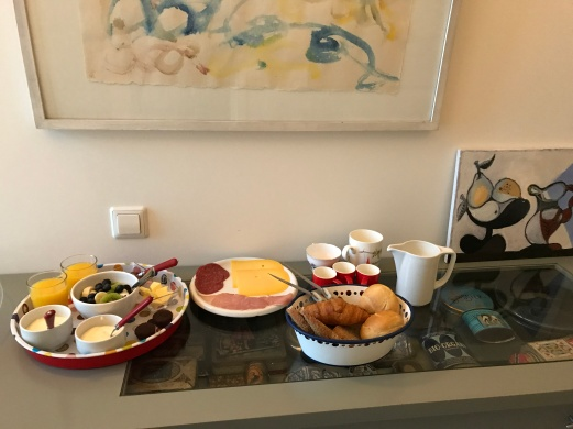 Breakfast provided on the last day of our honeymoon!