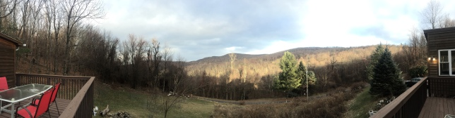The view from our cabin in Stanley, VA